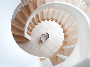Treppenhaus in einem Passivhaus